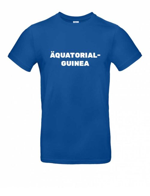 Das Äquatorialguinea-Shirt für Herren in Blau