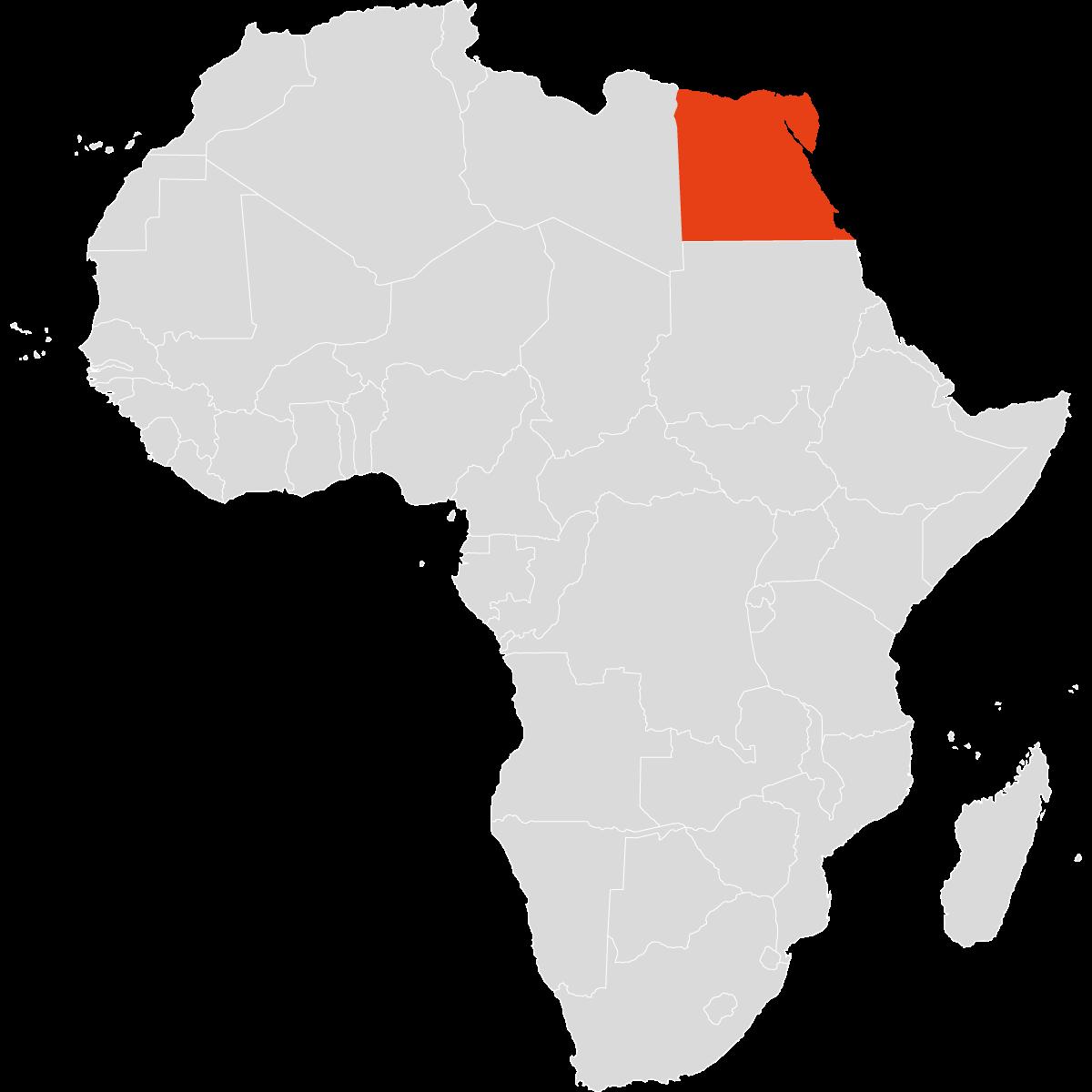 Ägypten auf dem Kontinent Afrika