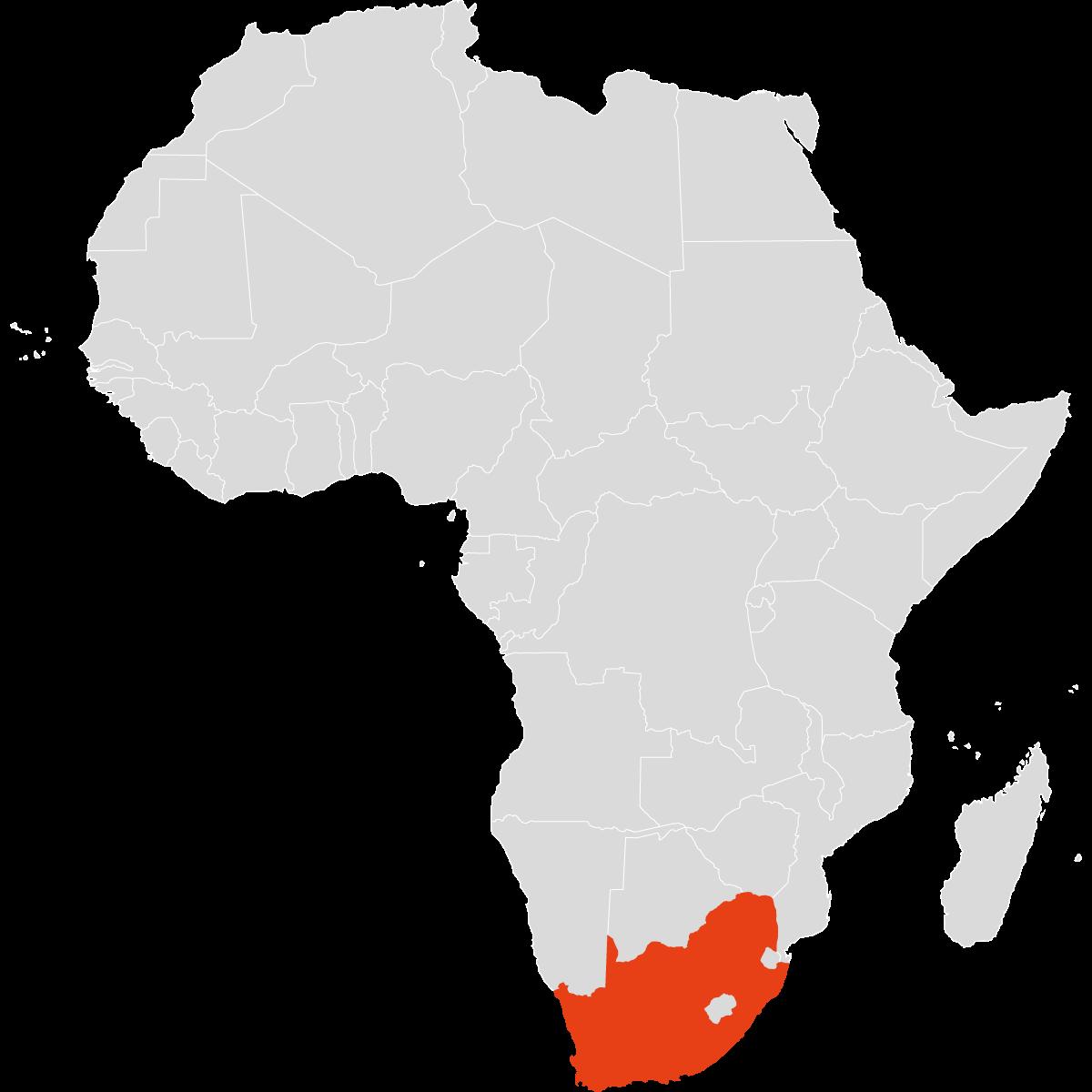 Südafrika auf dem Kontinent Afrika