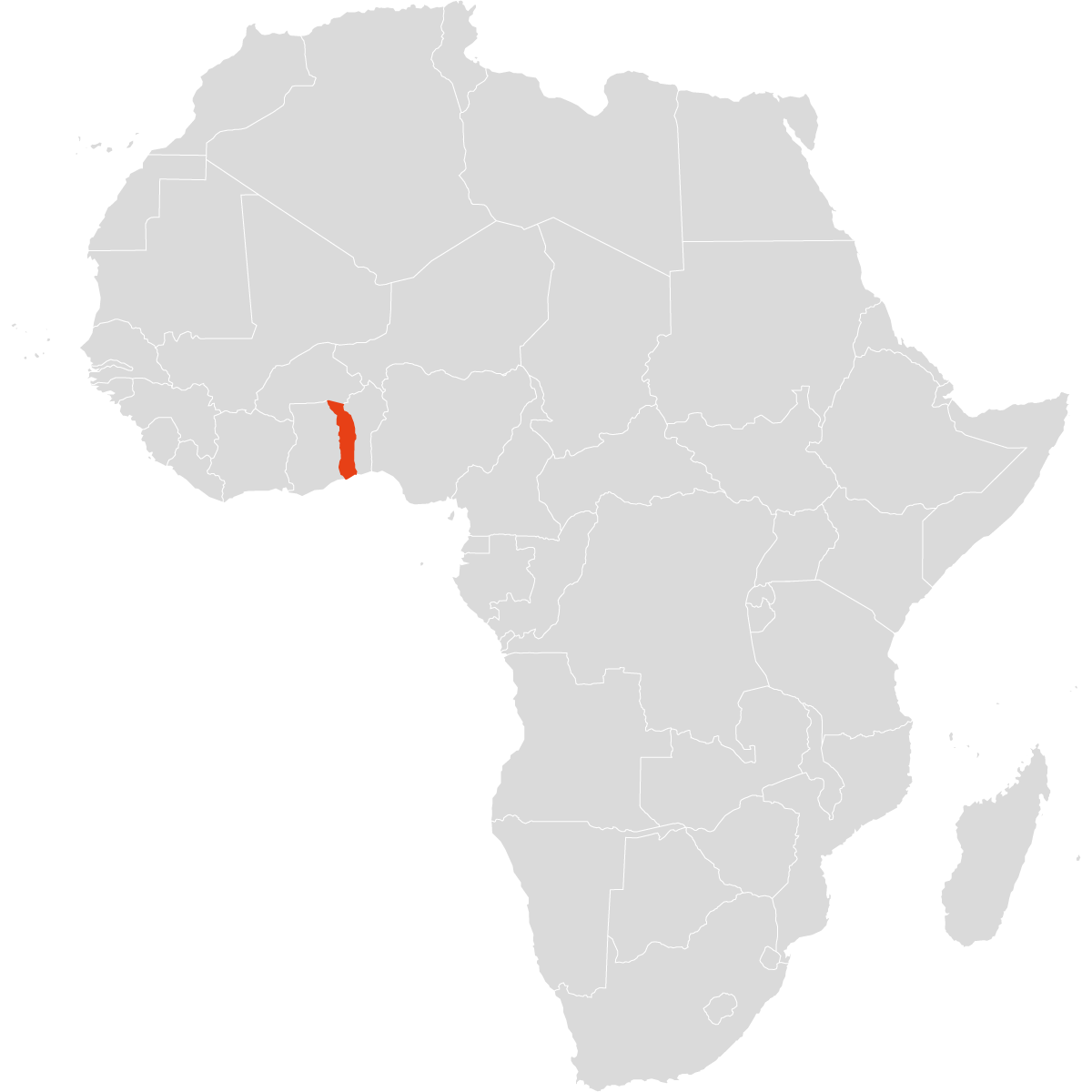Togo auf dem Afrika-Kontinent