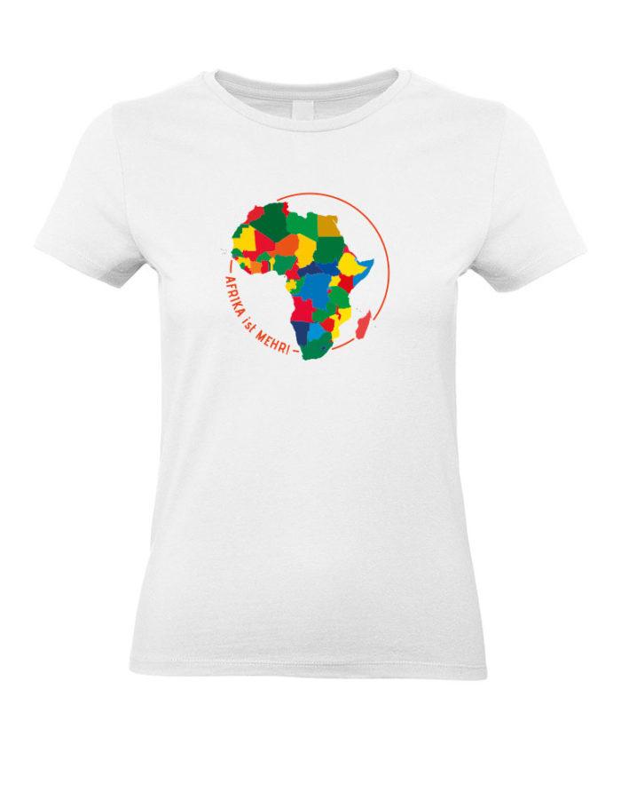 Damen T-Shirt - Afrika ist mehr - Kontinent - weiss