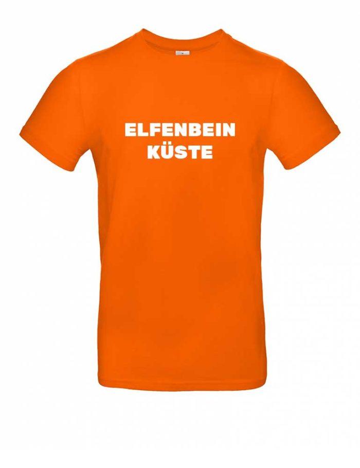 Das Elfenbeinküste-Shirt für Herren in Orange