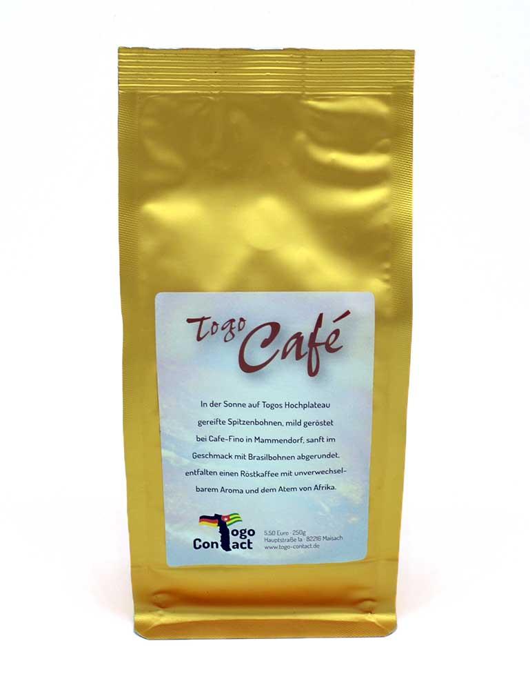 Togo-Kaffee gemahlen