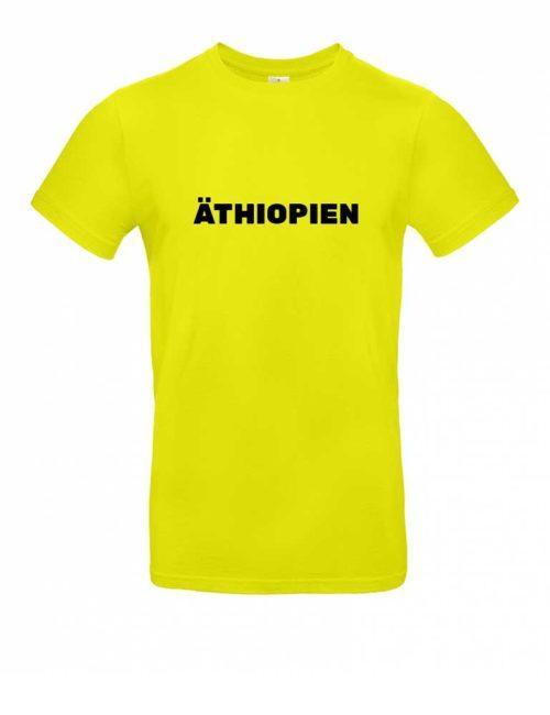 Das Äthiopien-Shirt für Herren in Gelb
