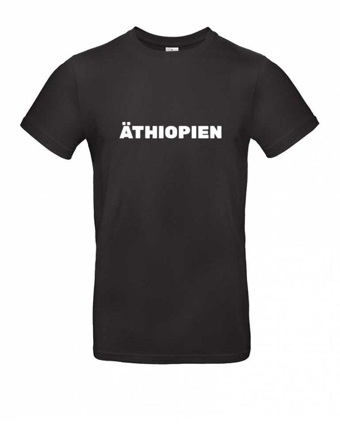 Das Äthiopien-Shirt für Herren in Schwarz