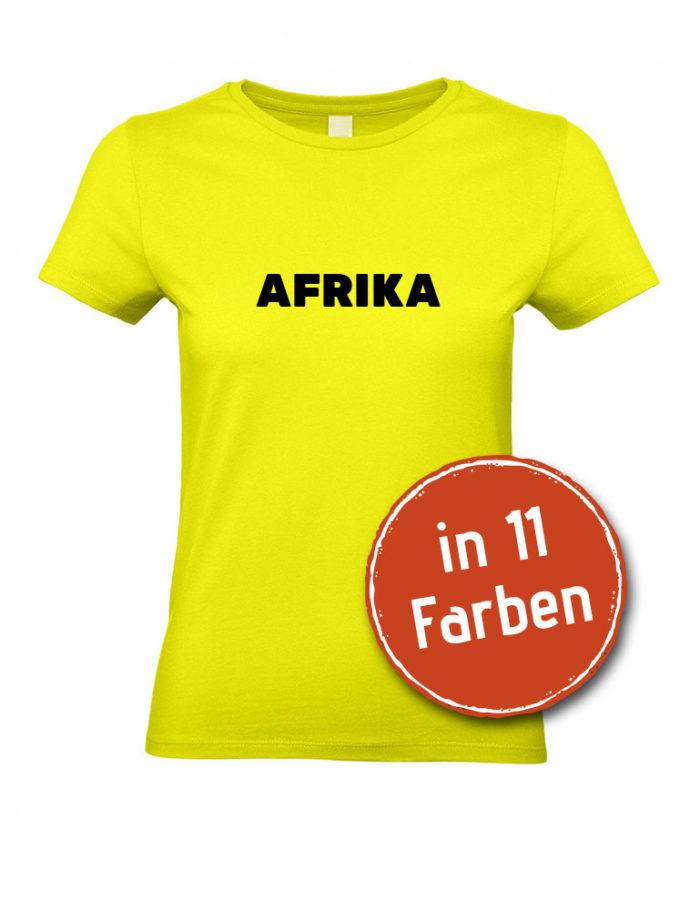 Unser Afrika-Shirt für Damen in 11 verschiedenen Farben