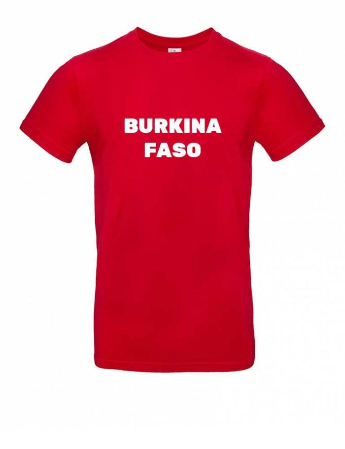 Das Burkina Faso-Shirt für Herren in Rot