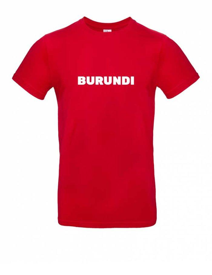 Das Burundi-Shirt für Herren in Rot