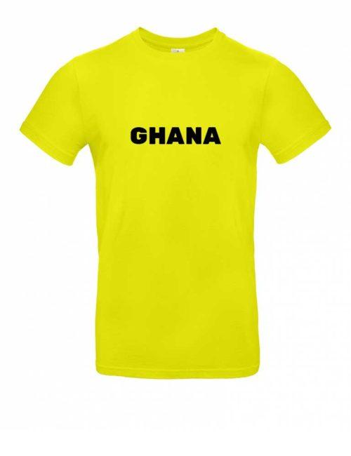 Das Ghana-Shirt für Herren in Gelb