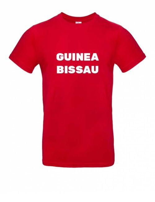 Das Guinea-Bissau-Shirt für Herren in Rot