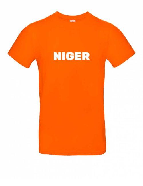 Das Niger-Shirt für Herren in Orange