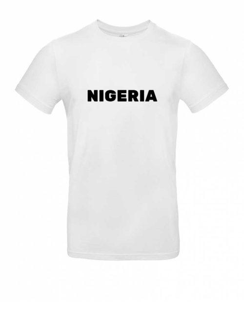 Das Nigeria-Shirt für Herren in Weiß