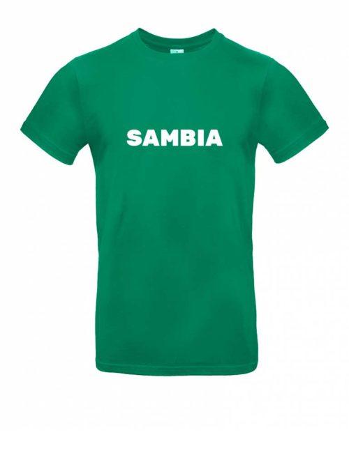 Das Sambia-Shirt für Herren in Grün