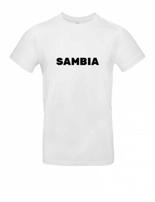 Das Sambia-Shirt für Herren in Weiß