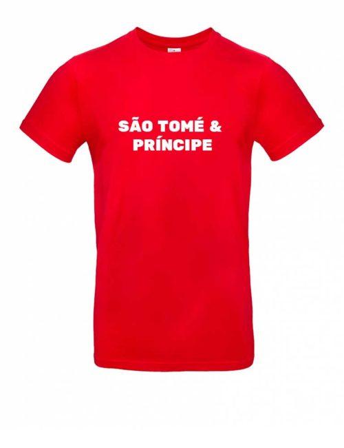 Das São Tomé und Príncipe-Shirt für Herren in Rot