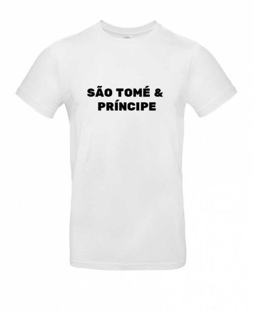 Das São Tomé und Príncipe-Shirt für Herren in Weiß