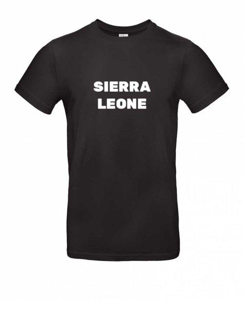 Das Sierra Leone-Shirt für Herren in Schwarz