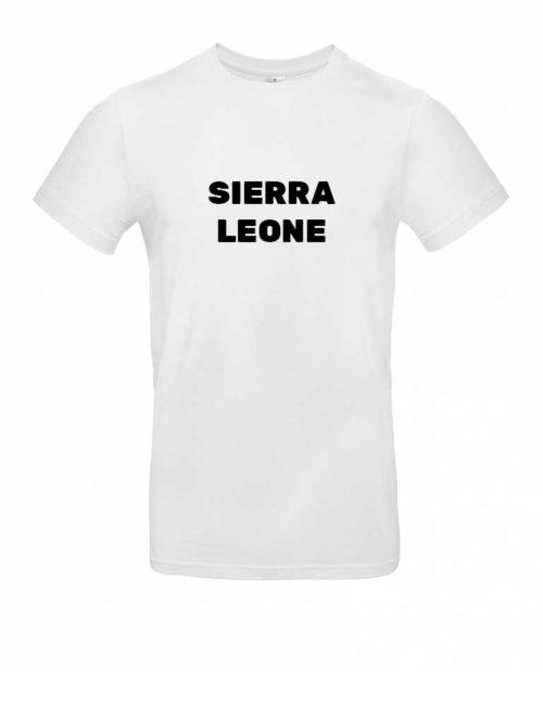 Das Sierra Leone-Shirt für Herren in Weiß