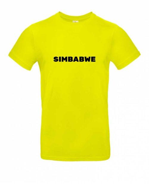 Das Simbabwe-Shirt für Herren in Gelb