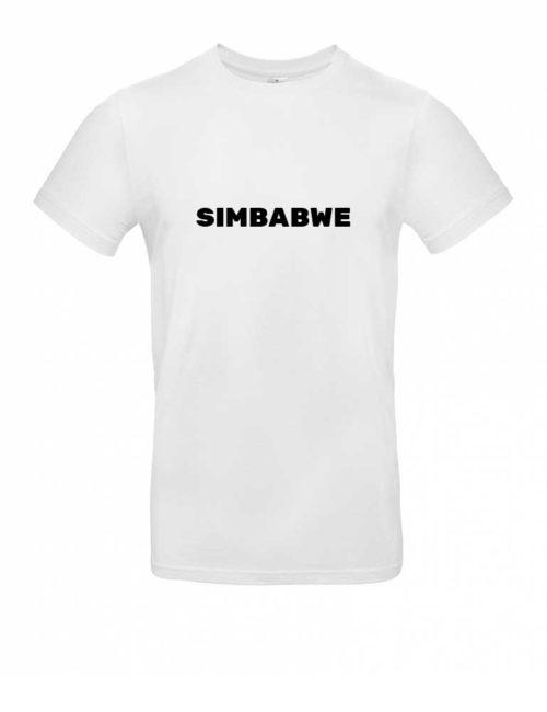 Das Simbabwe-Shirt für Herren in Weiß