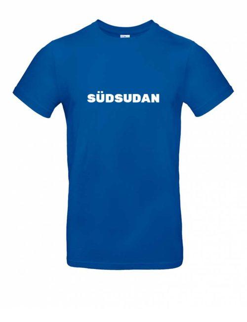 Das Südsudan-Shirt für Herren in Blau