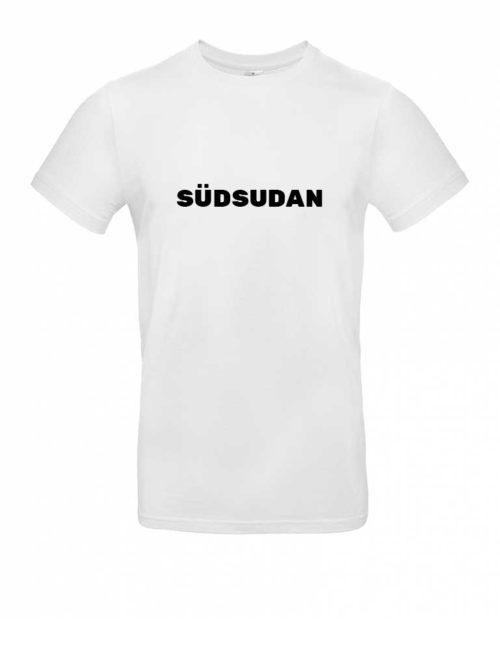 Das Südsudan-Shirt für Herren in Weiß