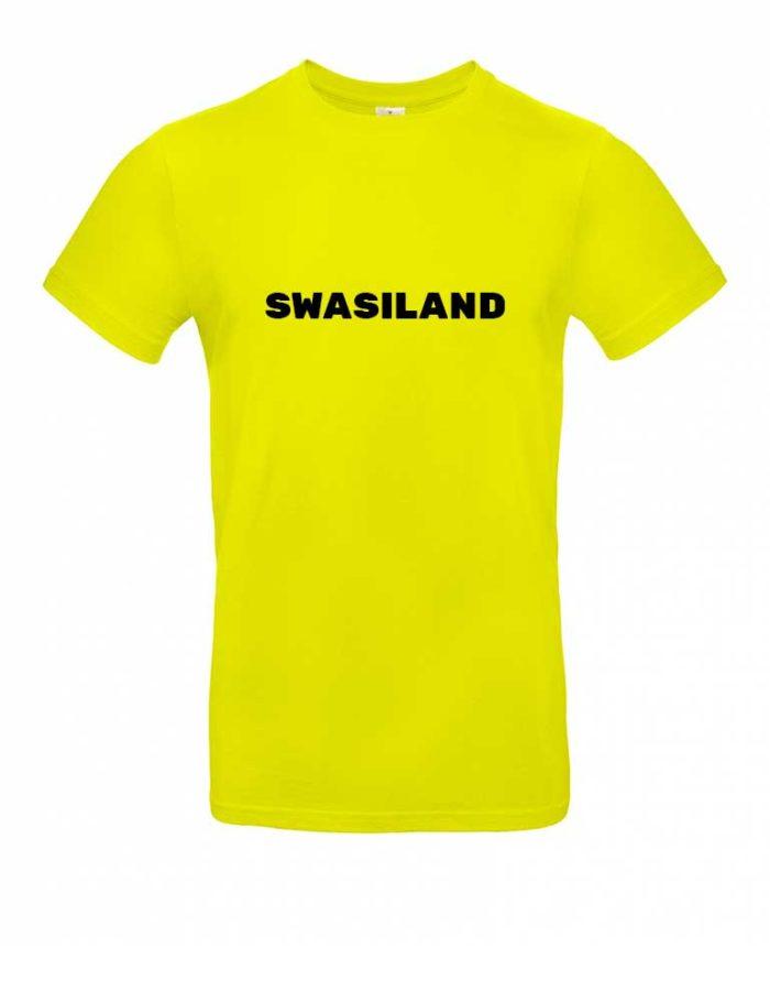 Das Swasiland-Shirt für Herren in Gelb