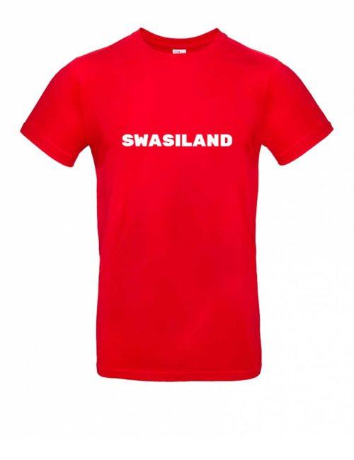 Das Swasiland-Shirt für Herren in Rot