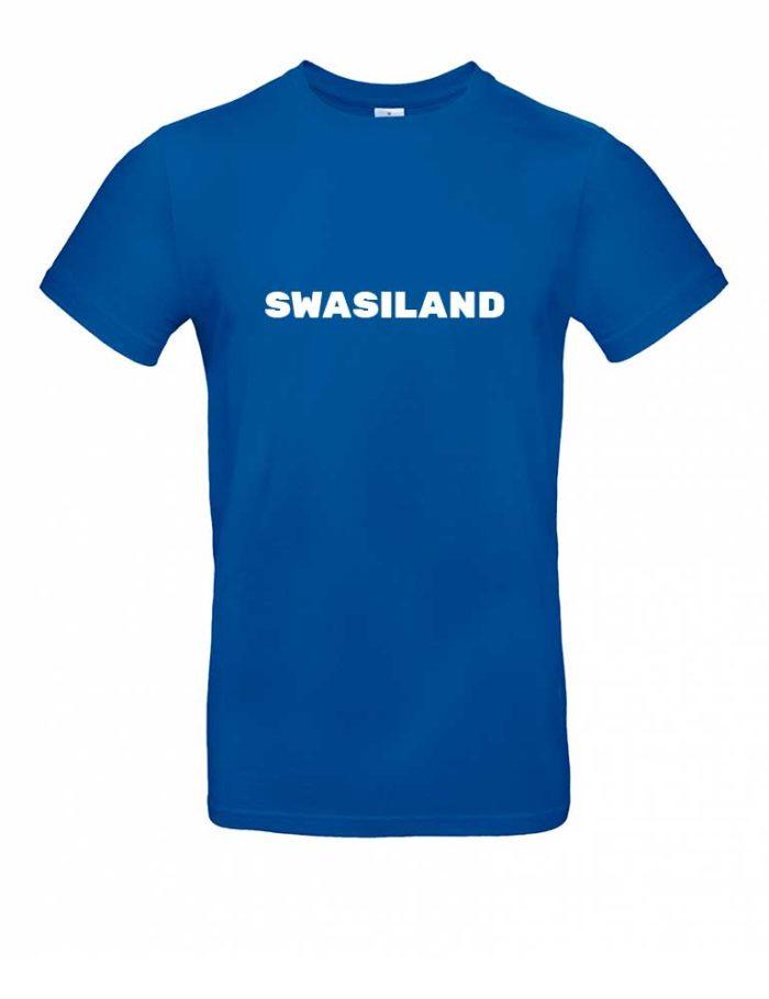 Das Swasiland-Shirt für Herren in Blau