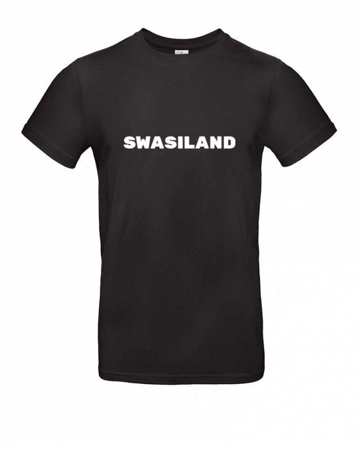Das Swasiland-Shirt für Herren in Schwarz