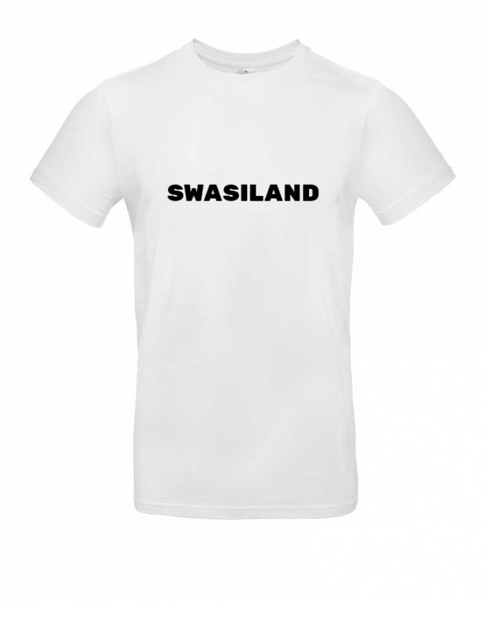 Das Swasiland-Shirt für Herren in Weiß