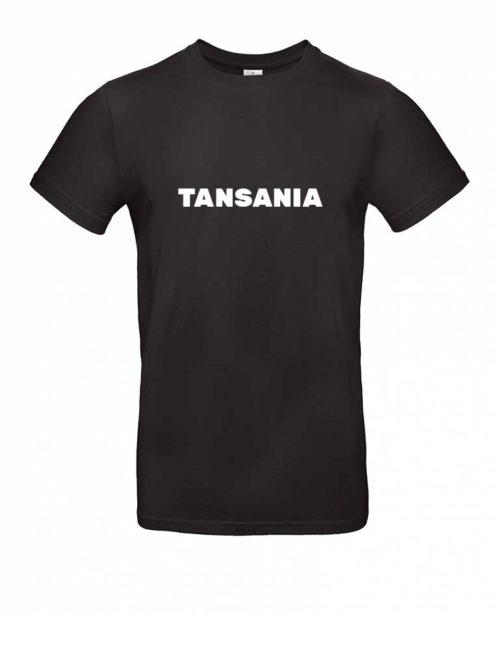Das Tansania-Shirt für Herren in Schwarz