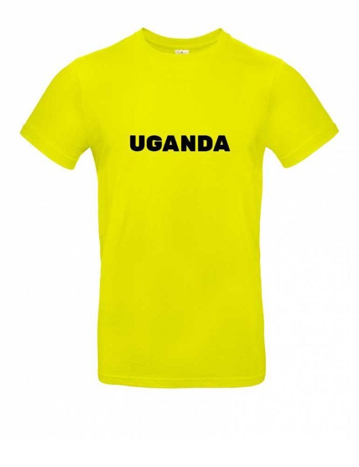Das Uganda-Shirt für Herren in Gelb
