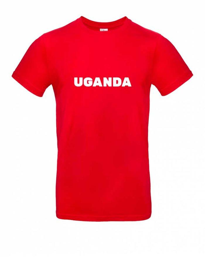 Das Uganda-Shirt für Herren in Rot