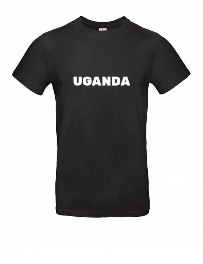 Das Uganda-Shirt für Herren in Schwarz