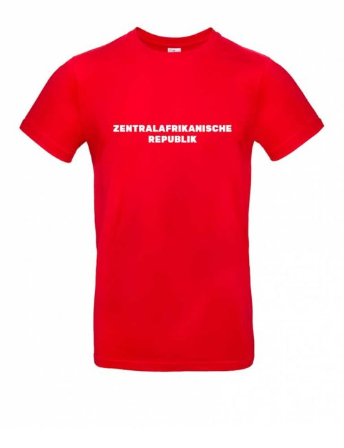 Das Zentralafrikanische Republik-Shirt für Herren in Rot