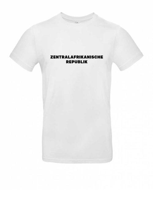 Das Zentralafrikanische Republik-Shirt für Herren in Weiß