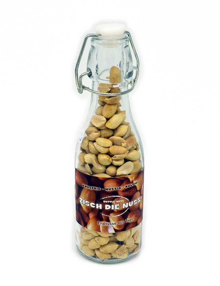 Zisch die Nuss - Erdnüsse in der Flasche
