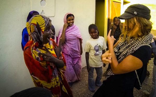 geheimer Abklatsch in Mauretanien