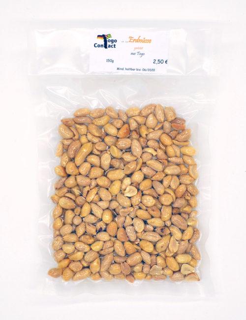 Erdnüsse aus Afrika in der 150g Packung