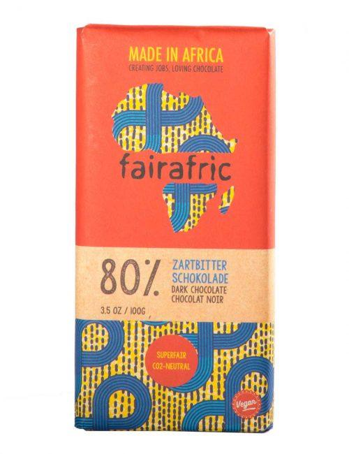 Zartbitterschokolade 80% Kakao von fairafric