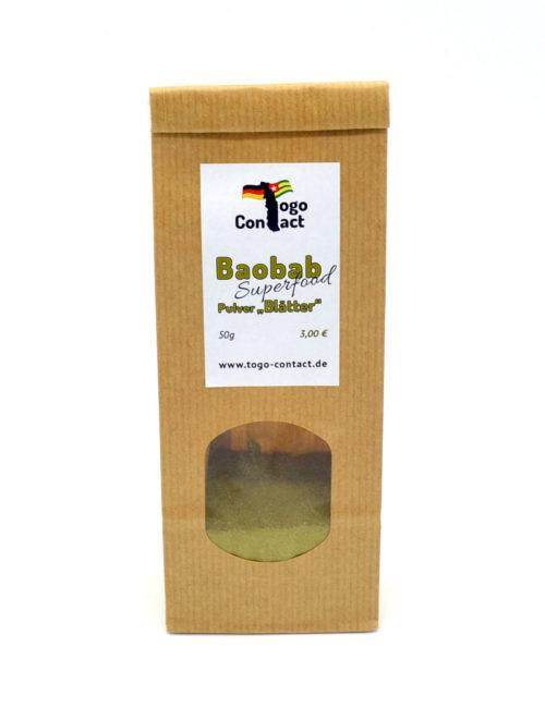 Baobab-Pulver aus den Blättern