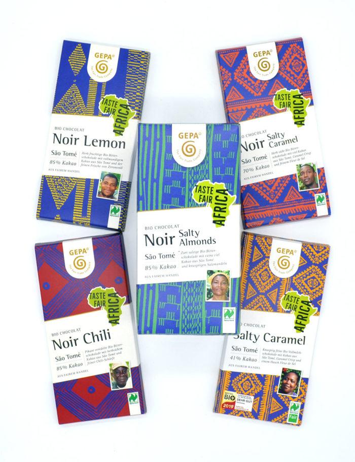 Bio Schokolade 5 Tafeln - Taste Fair Africa