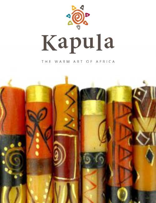 Kapula Stabkerze Safari Gold