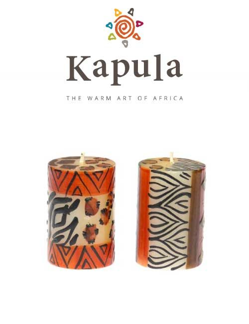 Kapula Stumpenkerze Animal Print