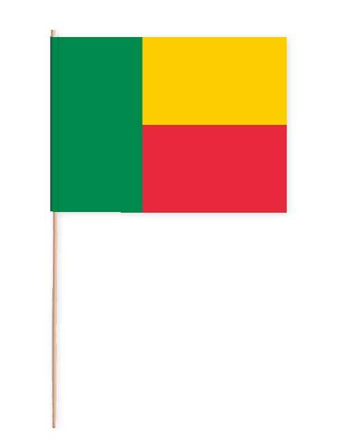 Benin Papierfahne mit Holzstab