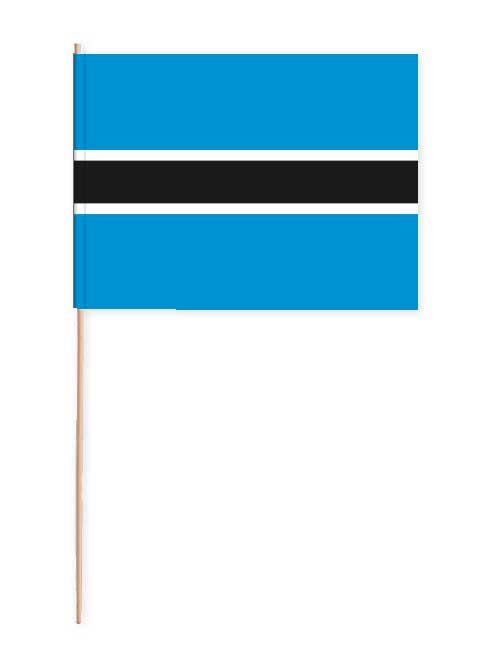 Botswana Papierfahne mit Holzstab