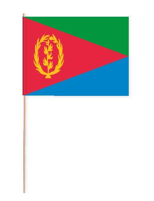 Eritrea Papierfahne mit Holzstab