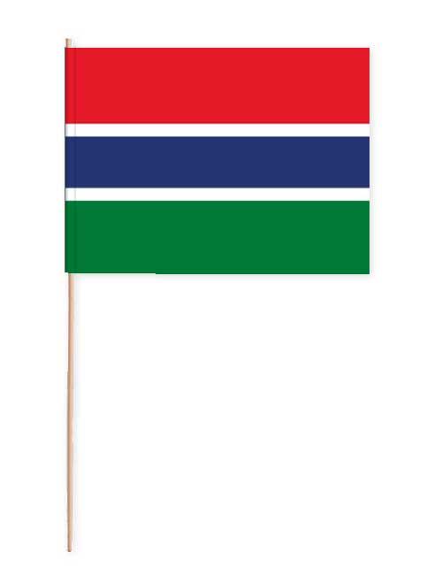 Gambia Papierfahne mit Holzstab