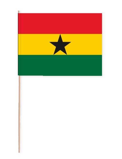 Ghana Papierfahne mit Holzstab